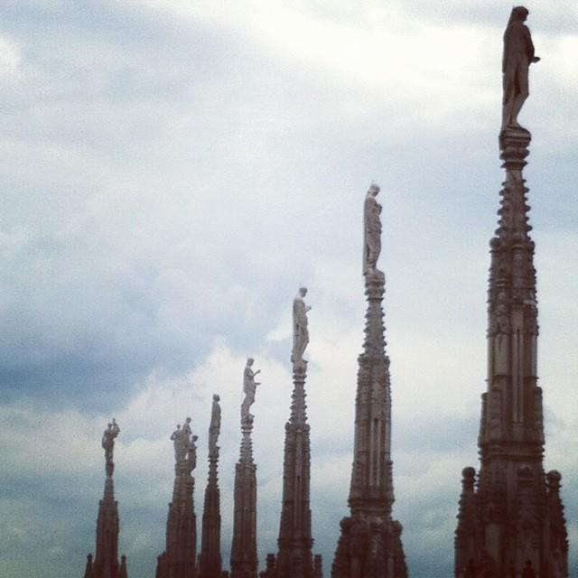 Le guglie viste dalla terrazza del Duomo. Foto scaricata dal mio profilo instagram http://instagram.com/ale9ssandra/