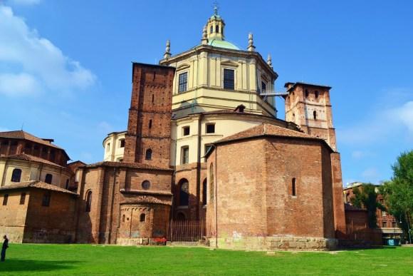Basilica di San Lorenzo vista dai giardini