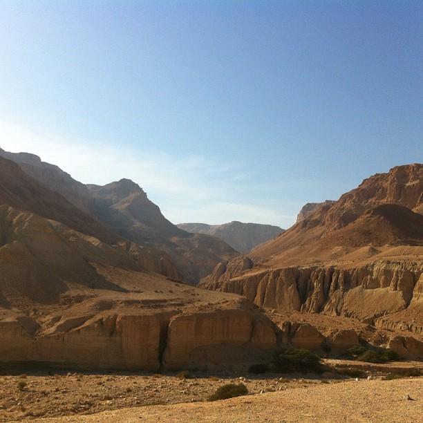 Il deserto roccioso di Wadi Zeedi. #israele
